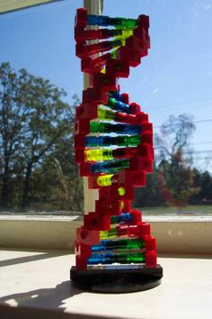 """DIY : LEGO DNA - If you ♥ LEGO, come have a look at LEGO LOVE board http://pinterest.com/almaisoncloud9/lego-love - I am the French-Israeli designer of """"Mademoiselle Alma"""". Inspired by my daughter, ALMA, I create Jewelry made from LEGO bricks, SWAROVSKI crystals and of course, a great amount of imagination. *** http://www.facebook.com/MademoiselleAlma Hope you LIKE my Facebook page-shop ♥ & http://www.etsy.com/shop/MademoiselleAlma"""