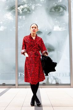 Tiffany Godoy, art director. Dress from Dog Harajuku, jacket from Kinsey. Shot by Steve West for The Wall Street Journal