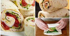 Recetas de wraps Healthy Food, Yummy Food, Healthy Recipes, Yummy Yummy, English Food, Fajitas, Burritos, Chefs, Sandwiches