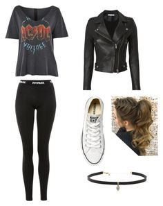 """Rocker Chic"" by vandunkenstein on Polyvore featuring Topshop, Ivy Park, IRO, Converse and Carbon & Hyde"
