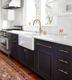 Hardware can make a big difference in a subtle way. things like knobs and cabinet handles can be switched out quickly with a few screws.