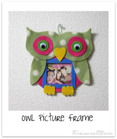 Owl Picture Frame (No-Sew or Sew, it's all up to you!^^)
