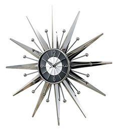 George Nelson Metal Sunray Wall Clock - SUN-2407 Control Brand http://www.amazon.com/dp/B001QT9TXS/ref=cm_sw_r_pi_dp_JiRvwb0JA3K35