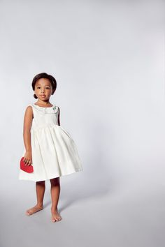 Inspiration - For Rachel - Ivory Flower Girls Dress - Pleat Detail and Low Back