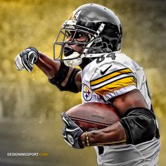 Daring Boy Interactive is the sports art and design studio of Matt Sharpe, proudly based in beautiful Guelph, Canada. Pittsburgh Steelers Players, Pittsburgh Sports, Steelers Football, Football Memes, American Football League, American Sports, National Football League, Here We Go Steelers, Antonio Brown