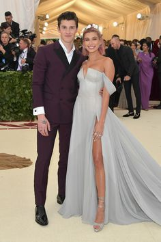 Hailey Baldwin and Shawn Mendes Make Their Red Carpet Debut as a Couple at the Met Gala