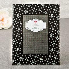 Geometric Photo Frame with Silver Glitter