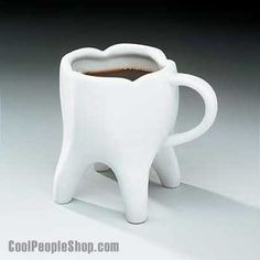 $13.80 Tooth Shaped Coffee Cup | Cool People Shop