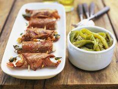 Kalbsfleischröllchen mit Mozzarellafüllung |