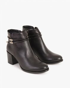BOTKI PRAKTYCZNE 058 -1613-CZARNY Booty, Ankle, Shoes, Fashion, Moda, Swag, Zapatos, Wall Plug, Shoes Outlet