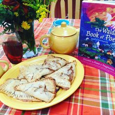 Today's #poetryteatime with peach hand pies. The peaches harvested from the tree…