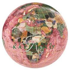 The Bahama Blue Gemstone Globe 4-inch Paperweight
