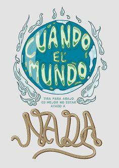 """""""Cuando el mundo tira para abajo es mejor no estar atado a nada"""" - Los Dinosaurios, Charly García by Matias Servelle."""