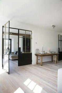 #Dekru #iron #framed #doors #taatsdeuren #stalen deuren #pivot #deuren #casas #homes #vidrio #glass #vidro #puertas #doors #portas #stalen #black doors #internal #glass #steel
