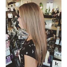 Straight Dirty Blonde Hair ❤ liked on Polyvore featuring beauty products and haircare