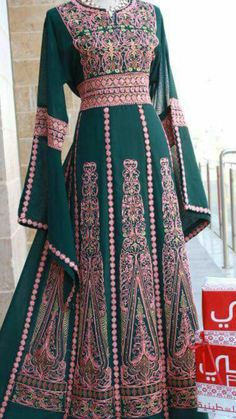 Ethnic Fashion, Hijab Fashion, Boho Fashion, Fashion Outfits, Afghan Clothes, Stylish Dresses For Girls, Embroidery Dress, Mode Outfits, Traditional Dresses