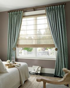 Boston's home for custom window treatment solutions. The best window coverings in the industry such as Hunter Douglas, Norman Shutters, Lutron, Graber and More! Picture Window Treatments, Window Treatments Living Room, Custom Window Treatments, Picture Window Curtains, Traditional Window Treatments, Window Shutters, Bay Window, Bedroom Windows, Living Room Windows