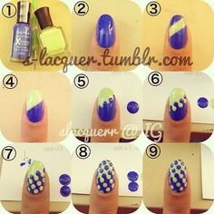 Easy nail art! ... Even if you stop at step six it's adorable!