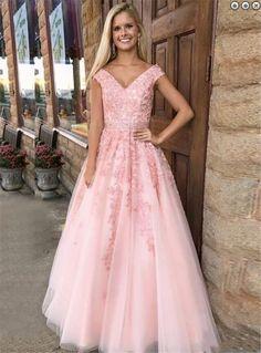 Fancy Prom Dresses Pink, Prom Dresses A-Line, Prom Dresses on Storenvy