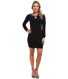 Calvin Klein Calvin Klein  LS Shift Dress w Beaded Neckline Womens Dress for 47.99 at Im in! #sale #fashion #I'mIn
