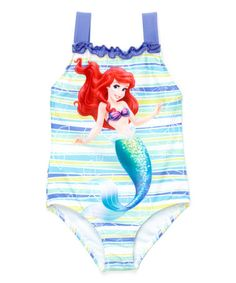 Disney Princes Ariel  Girl/'s  1 Pc Lined Swimsuit  NWT Size  5//6