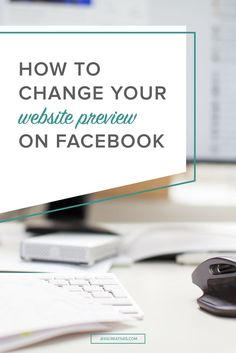 Don't you hate when technology doesn't exactly behave like you want it to? You blog, you update your services or your portfolio, and then you go to share that link on Facebook -- and it doesn't look like it should!