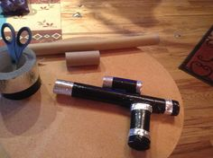 make a storm trooper blaster out of wraping paper tubes or toilet paper tubes and duct yape