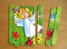 Risultati immagini per výrobky z lékařských špachtlí Puzzle, Popsicle Sticks, Popsicles, Diy Crafts, Hand Crafts, Decoupage, Projects, Spatula, Craft Ideas