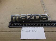 MAZDA 626--TRUNK EMBLEM logo script chrome 662A-51711 oem J279 #Mazda