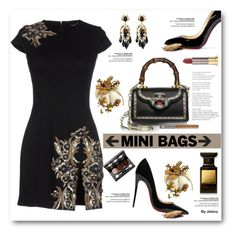 """""""So Cute: Mini Bags"""" by jelenalazarevicpo ❤ liked on Polyvore featuring Dsquared2, Gucci, Christian Louboutin, Urban Decay, Tom Ford and Vincent Longo"""