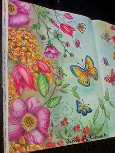 Color Pencil Drawing Ideas Inspirational Coloring Pages by Silvia Cassol Secret Garden Coloring Book, Coloring Book Art, Colouring Pages, Adult Coloring Pages, Coloring Tips, Colorful Drawings, Cool Drawings, Horse Drawings, Johanna Basford Coloring Book