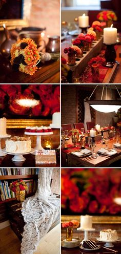 Fall inspired wedding photoshoot -- These are some gorgeous Fall wedding decor ideas! | Photos by Erin Lepperd | Style Me Pretty