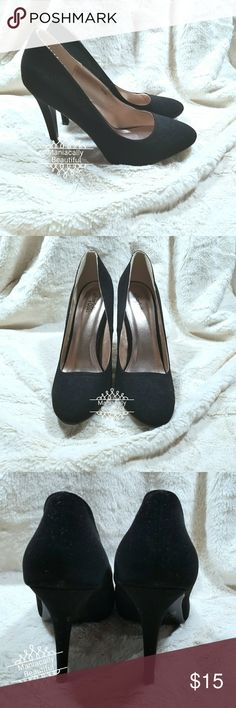 Round Toe Heels 4.5 in heels Never worn but has a few scuffs Charlotte Russe Shoes Heels