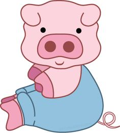 Free pig clipart from www.cutecolors.com Peppa Pig Printables, Pig Images, Jar Gifts, Gift Jars, Piggly Wiggly, Cute Piggies, Flying Pig, Painting For Kids, Farm Animals