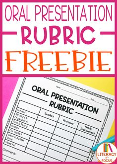 FREE Oral Presentation Rubric. Provide your students with clear grading expectations for their next presentation with this FREE grading rubric! Great for speeches too! #oral #presentation #rubric #freebie Teaching Reading, Teaching Math, Teaching Resources, Learning, Teaching Ideas, Elementary Teacher, Elementary Education, Upper Elementary, School Teacher