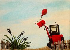 artwork for children - wall art for a young boy. I think my nephew would love this!