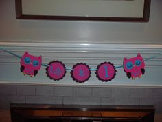 OWL birthday banner  I AM 1 banner photo by CreativePartyBanners, $20.00