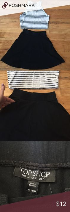 Top shop flared skirt with pockets size 2 Top shop flared skirt with pockets size 2 top shop Skirts Mini