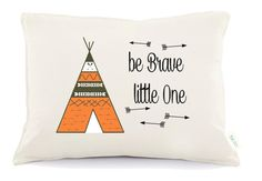 Be brave little one  baby nursery pillow tribal nursery by Tulito