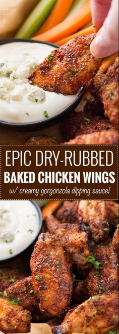 Epic Dry-Rubbed Baked Chicken Wings - The Chunky Chef