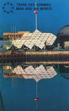EXPO 67 - CARTES POSTALES 9 - CENTRE DE PAIX DE MONTRÉAL Expo 67, Swinging London, Montreal Ville, Canada Eh, World's Fair, Places Ive Been, Louvre, Vacation, Photos