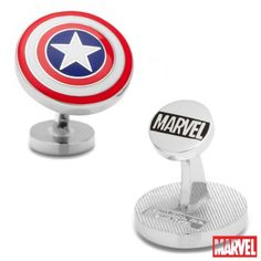 Officially licensed Captain America Shield Cufflinks by Marvel. Available only at CUFFZ.com.au