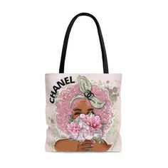Designer Inspired Chanel Chanel Tote Bag Tote Bag Chanel | Etsy Chanel Tote Bag, Chanel Chanel, Chanel Handbags, Flocked Christmas Trees Decorated, Reusable Tote Bags, Inspired, Unique Jewelry, Inspiration, Afro