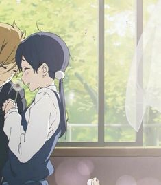 Ahh I know this feeling m Neko Kawaii, Kawaii Anime Girl, Anime Best Friends, Cute Couple Wallpaper, Wallpaper Iphone Cute, Otaku Anime, Anime Art, Tous Les Anime, Tamako Love Story