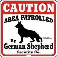 scary beware of dog signs | German Shepherd Signs, Beware of Dog Warning Signs