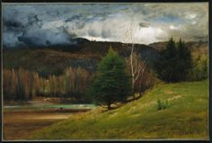 George Inness  American 1825-1894  Oil on Canvas  16 x 24 inches  Near Kearsarge Village