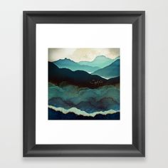 Size medium 22x22. Buy Indigo Mountains Framed Art Print by spacefrogdesigns. Worldwide shipping available at Society6.com. Just one of millions of high quality products available.