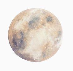 Moon Print, Moon Painting, Moon Art, Lunar Artwork, Boho Decor, Space Print, Indie Decor, Boho Print, Full Moon, Moon Decor, Space Art
