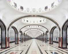 David Burdeny's photo series A Bright Future: New Works from Russia. A look at the Metro in Moscow.