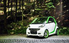 壁紙をダウンロードする Vilner, チューニング, 2017車, Smart ForTwo Brabus, 小型車